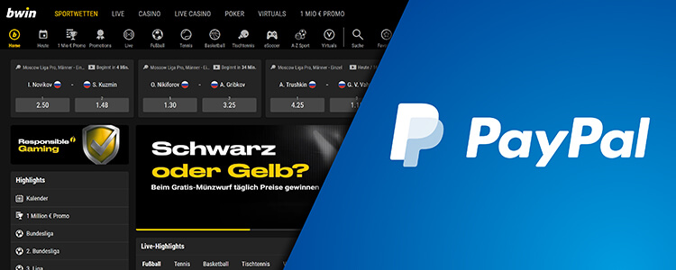 bwin Einzahlung Auszahlung mit PayPal Konto
