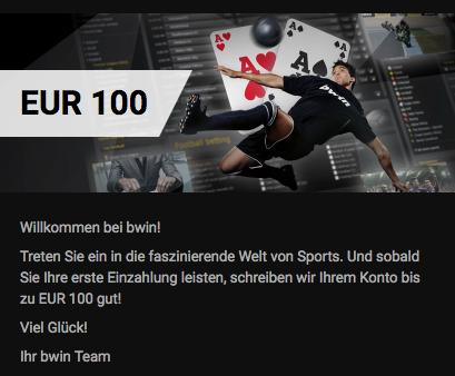 bwin app 100 euro bonus