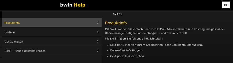 bwin Produktinfo zu Skrill (Quelle: bwin)