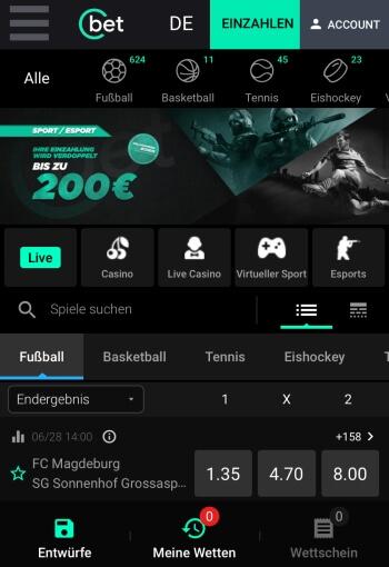 Cbet.gg - Sportwetten-App