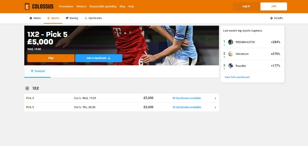 colossus bet auswahl