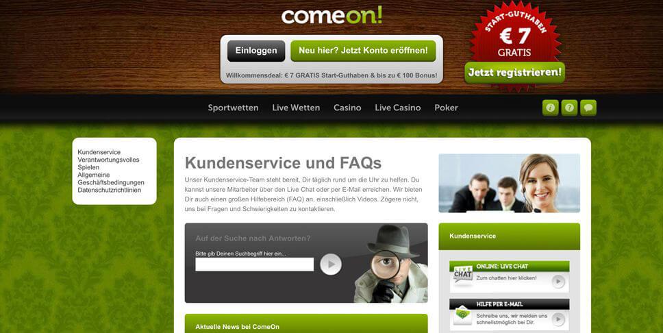 ComeOn – Gewinn, Limit, Mindesteinsatz und Maximalgewinn