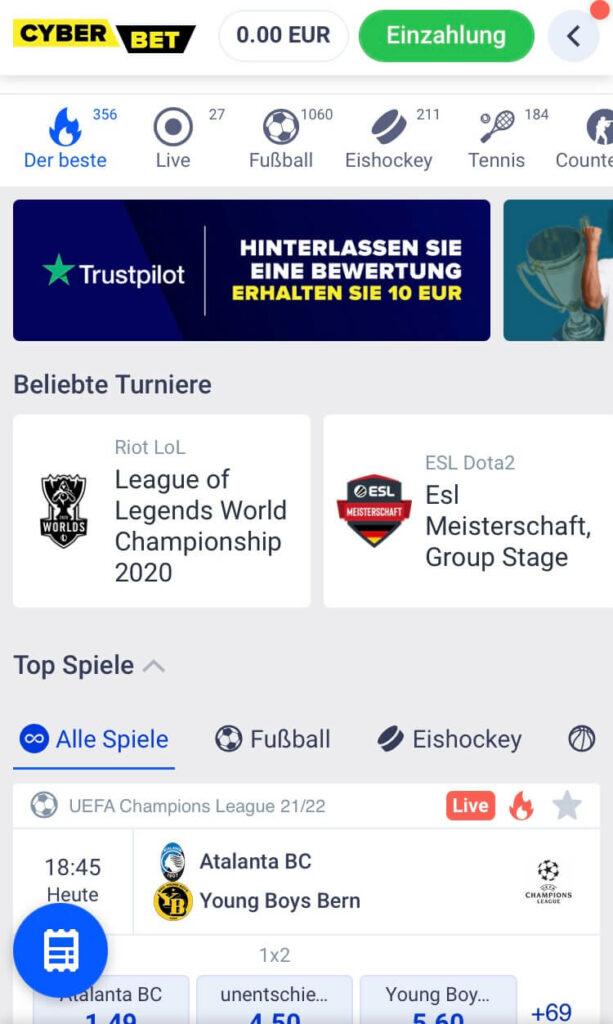 Cyber.bet Sportwetten – Erfahrungen und Bewertung 2021