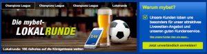 Wett-Bonus heute: Mit mybet 10 Euro risikofrei auf die Champions League wetten