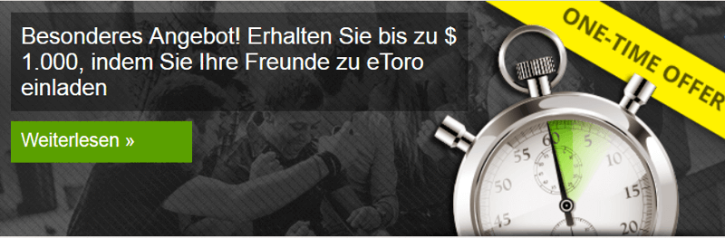 Neukunden-Bonus von etoro (Quelle: etoro)