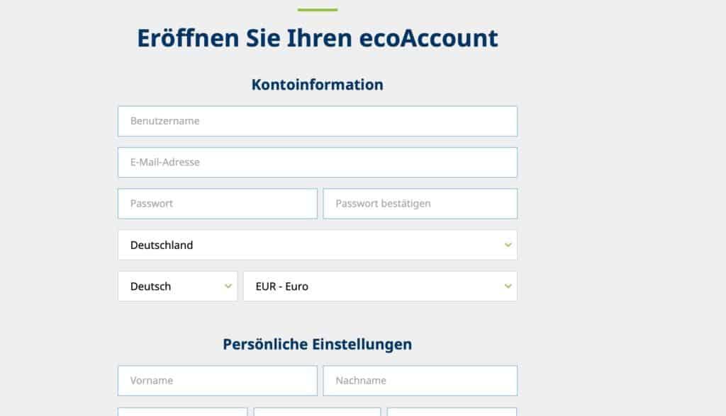 ecoPayz Wettanbieter Konto