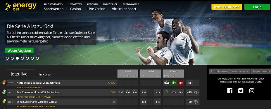 EnergyBet Sportwetten – Erfahrungen und Bewertung