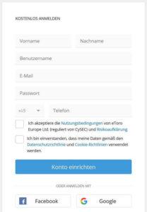 eToro Anmeldung bzw. Registrierung – So funktioniert es!