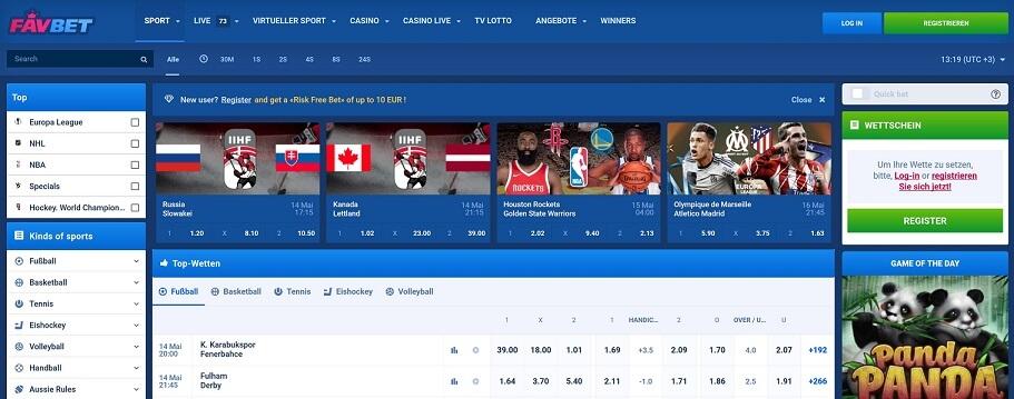 Favbet Sportwetten – Erfahrungen und Bewertung 2018