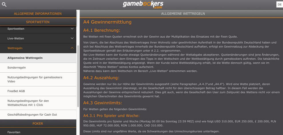 gamebookers-agb-limit-gewinn