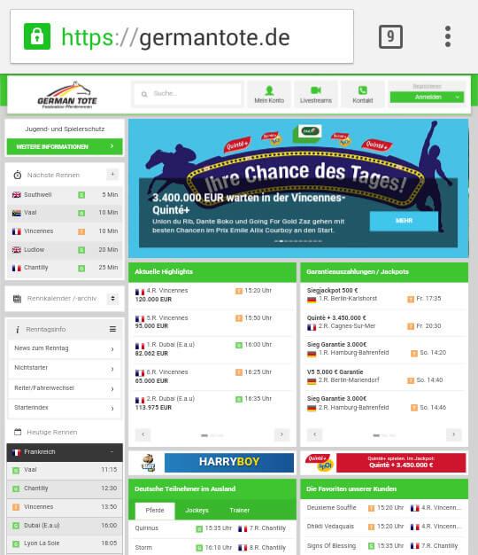 German Tote.com Pferdewetten Test & Erfahrungen 2017