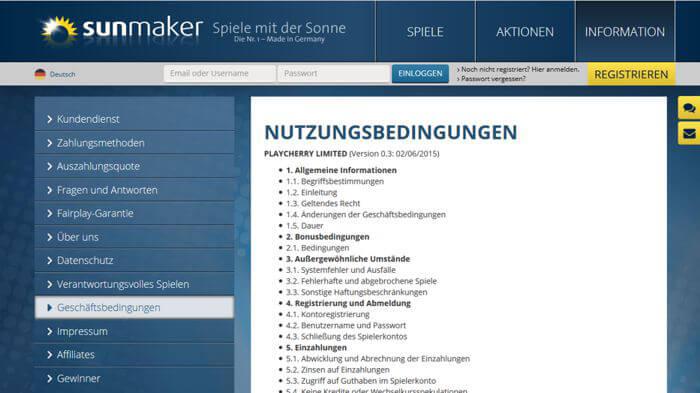 Sunmaker Account kündigen / Konto löschen