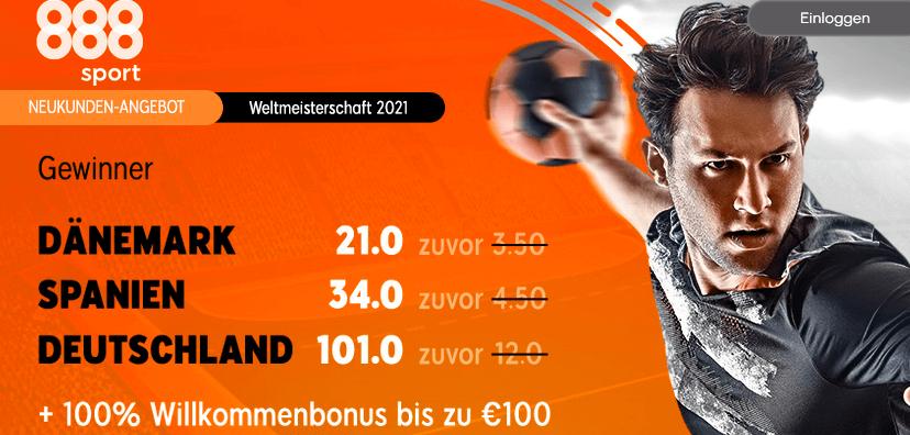 Bonusaktion 888sport - Handball WM Wetten