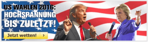 Wett-Tipp heute: Wer wird nächster Präsident der USA?