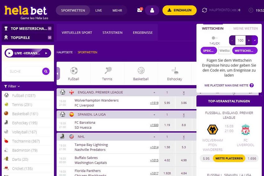 helabet Sportwetten – Erfahrungen und Bewertung 2021