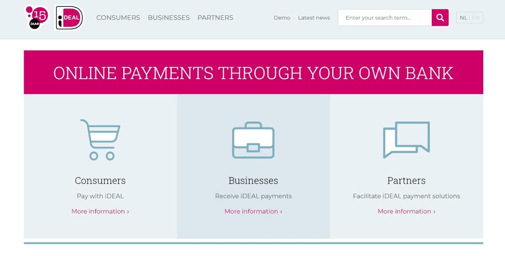 ideal website online payments