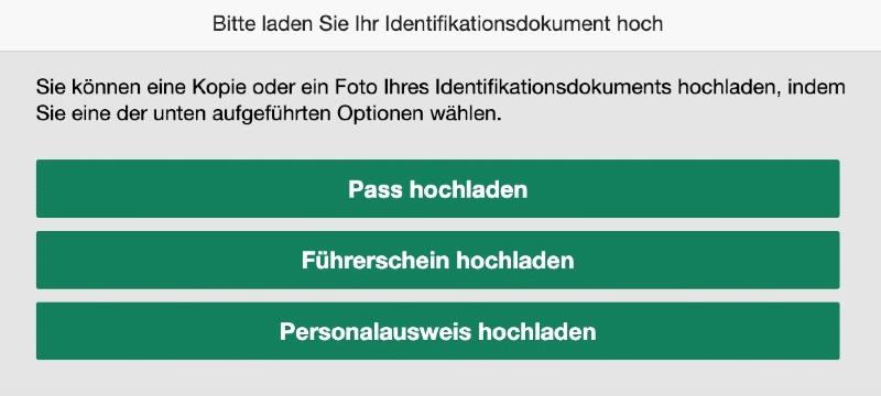 Identität bestätigen bei bet365