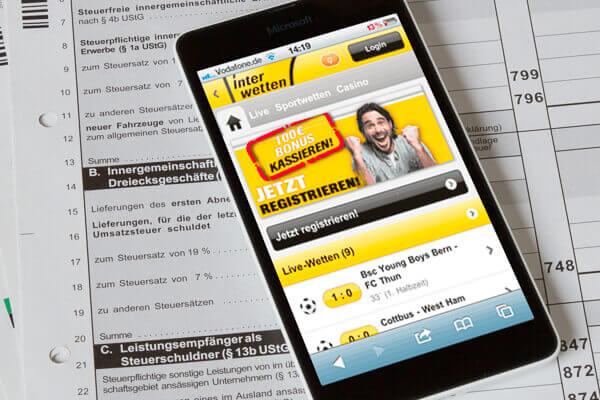 Interwetten Steuer – Wettsteuer 5% auf Sportwetten?