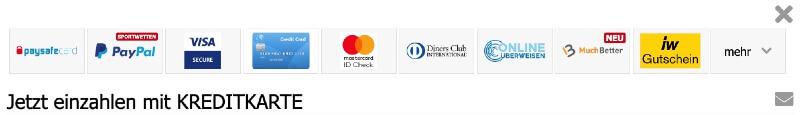 Interwetten – Zahlungsmethode wählen
