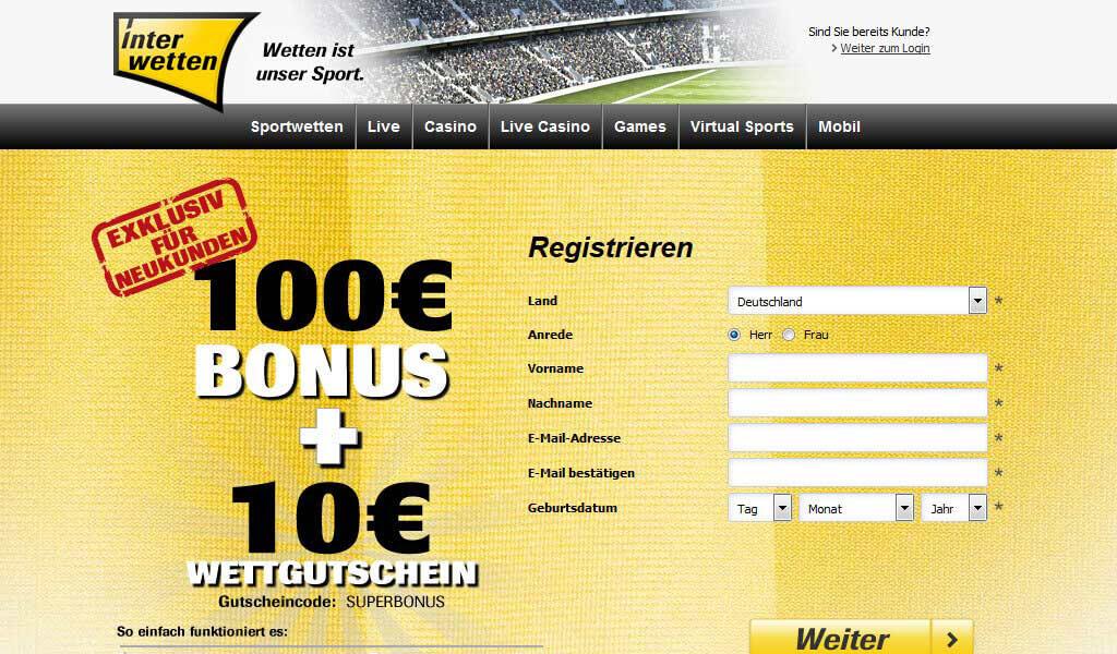 Interwetten Bonus – bis zu 100 Euro Wettbonus sichern