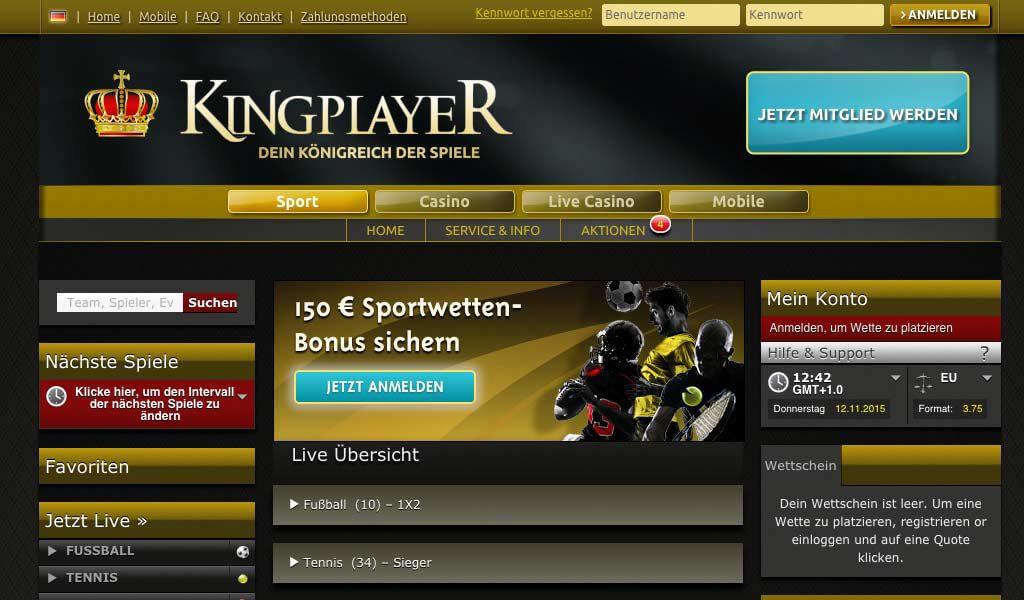 Kingplayer Sportwetten – Erfahrungen und Bewertung