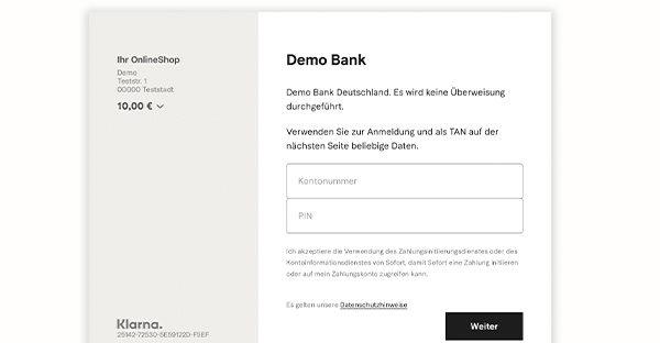 Wettanbieter mit Klarna – Beispiel Banking