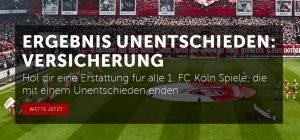 Wettbonus heute: Unentschieden-Versicherung für Spiele des 1. FC Köln