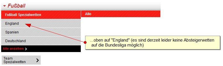 ⚽ Wetten auf Absteiger – Bundesliga – wer steigt ab?