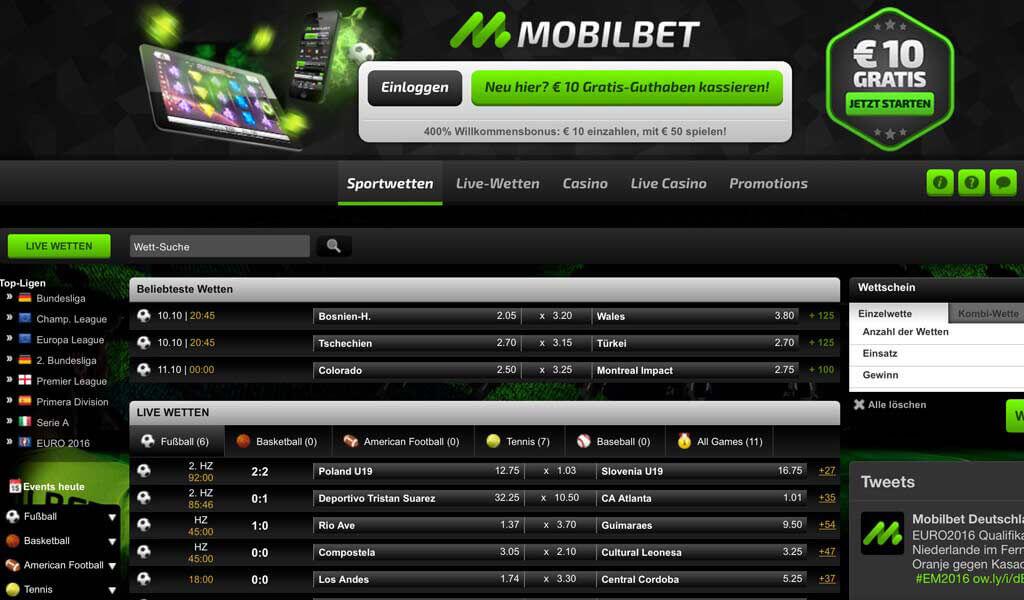 Mobilebet Sportwetten – Erfahrungen und Bewertung