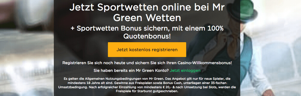 Mr Green Sportwetten Erfahrungen und Bewertung 2019