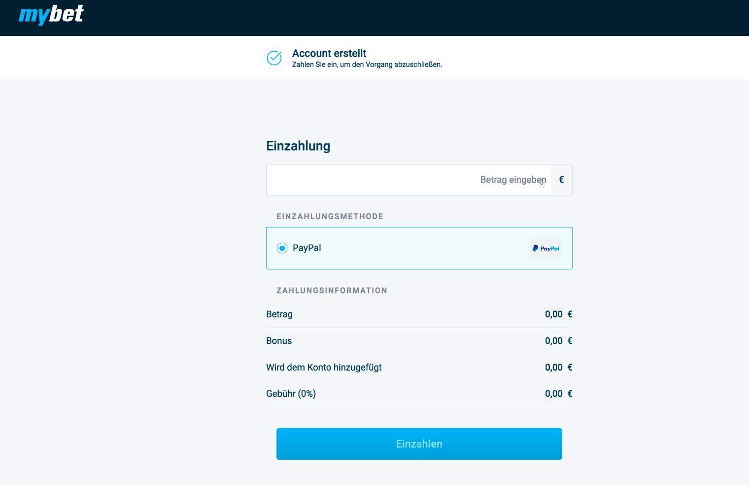 mybet PayPal Einzahlung - Wettanbieter mit PayPal