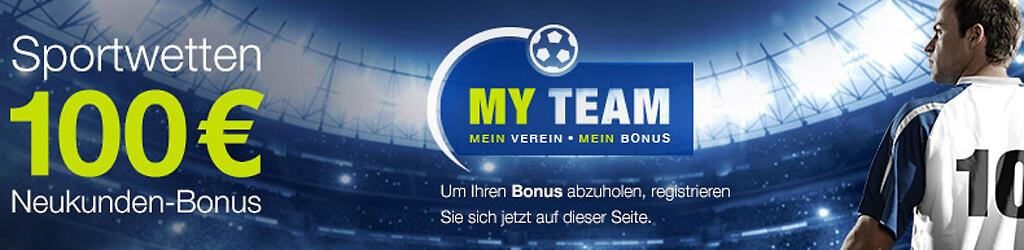 Bis zu 100€ Neukundenbonus bei mybet (Quelle: mybet)