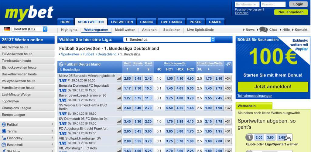 Beste Bundesliga Quoten – bei Tipico, bwin oder bet365?