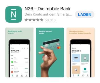 N26 Registrierung – App herunterladen