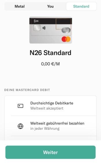 N26 Registrierung – Zwischen Abo-Modellen wählen