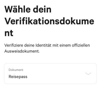 N26 Registrierung – Verifizierung