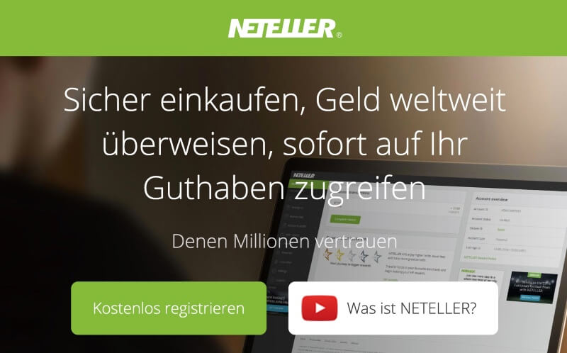 NETELLER Registrierung einleiten