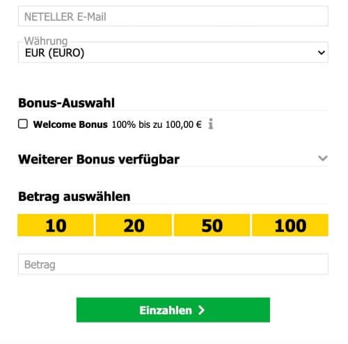 NETELLER Registrierung – Bei Interwetten mit NETELLER einzahlen