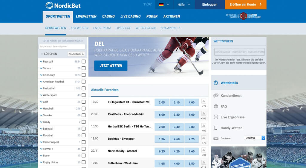 Nordicbet Sportwetten – Erfahrungen und Bewertung 2017