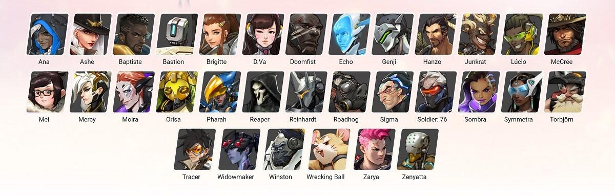 Overwatch Wetten - die Helden und Charaktere im Spiel
