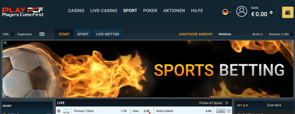 PCF Casino Sport Sportwetten Erfahrungen – Test & Bewertung 2021