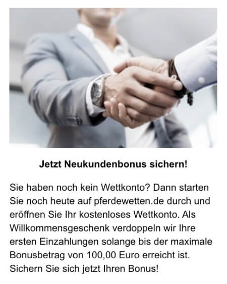 Der Willkommensbonus von Pferdewetten.de
