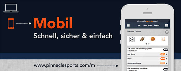 Pinnacle mobile App für iPhone, iPad & Android