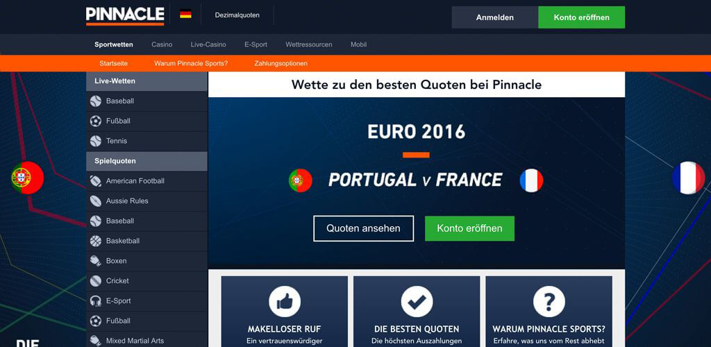 pinnacle sportwetten