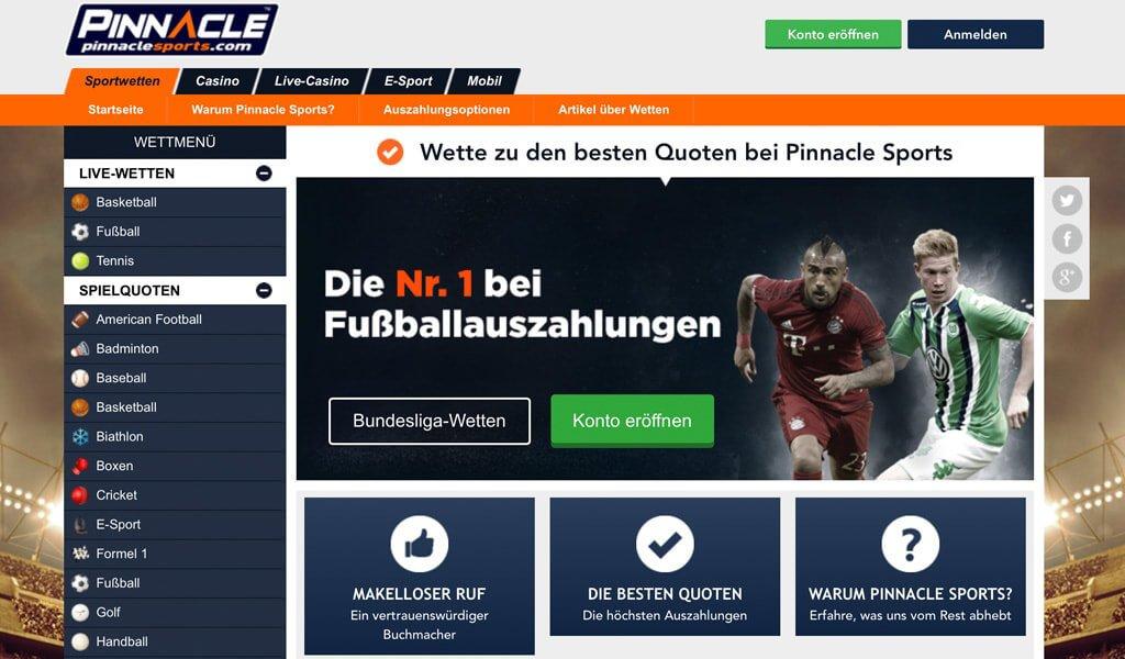 Pinnacle Sportwetten – Erfahrungen und Bewertung 2017