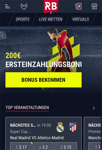 Rabona - Sportwetten-App