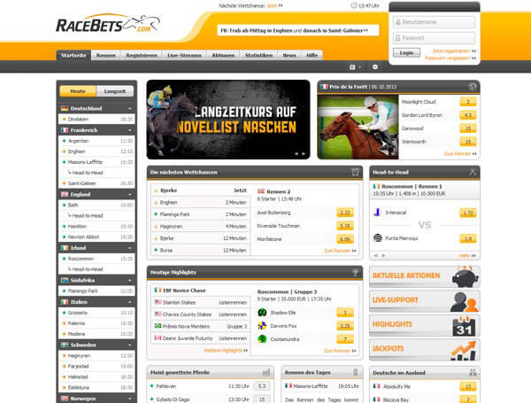www.racebets.com/de Pferdewetten – Bewertung und Test