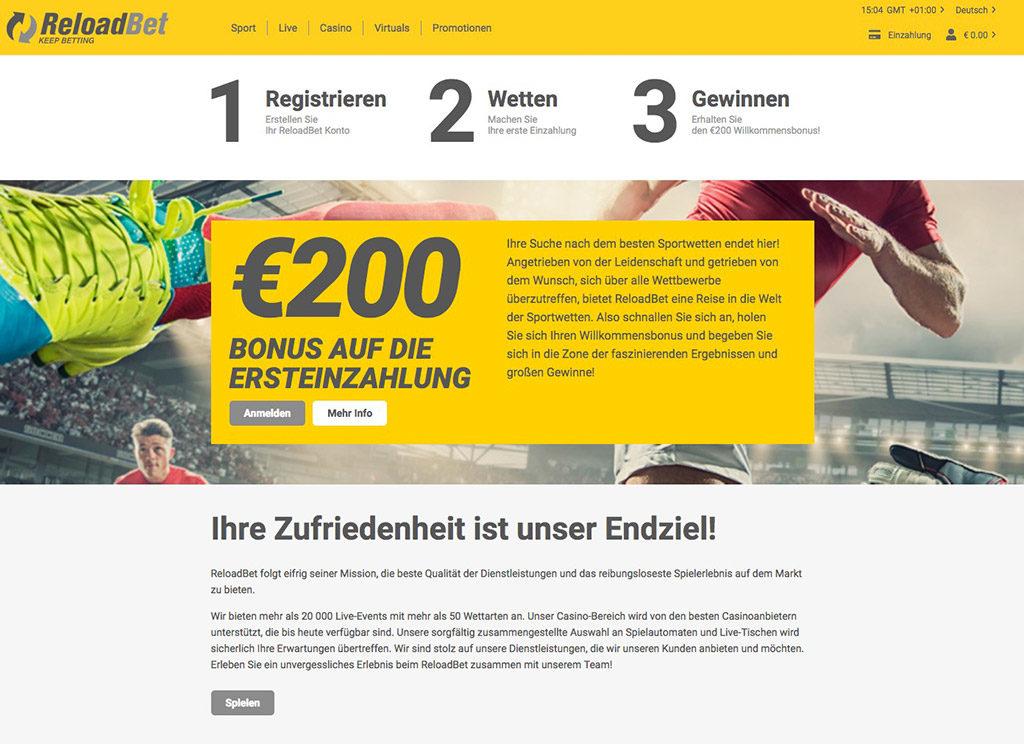 ReloadBet Sportwetten Erfahrungen – Test & Bewertung 2021