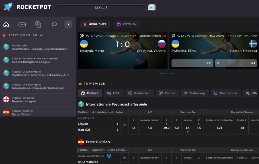 Rocketpot.io Sportwetten – Erfahrungen und Bewertung 2021