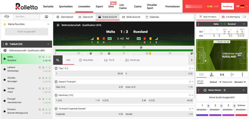 Rolletto Sportwetten – Erfahrungen und Bewertung 2021